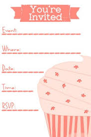 Party Invitaion Templates Free Pink Cupcake Invite Template For Birthday Party Cupcakes