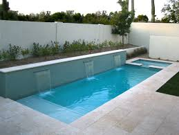 ... Inspiration Pool ~ Witching Rectangular Pool With And Without Deck  Designs: Wonderful Modern Small Space ...