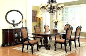 grindleburg white light brown round dining room table set cherry finish transitional furniture of formal with