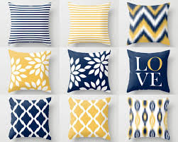 Throw Pillow Cover Designs Throw Pillow Covers Navy Yellow And White M32 Decorative