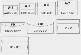 Paper Sizes Chart Us Elegant Envelope Printing Custom