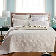 Amazon.com: Calla Angel Saint Ivory Luxury Pure Cotton Quilt, King ... & Calla Angel Saint Ivory Luxury Pure Cotton Quilt, King, Ivory Adamdwight.com