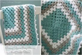 Easy Granny Square Baby Blanket Pattern