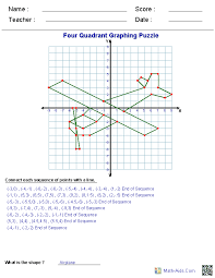 Math Aids Graphing Worksheets Plus More Math Math Math