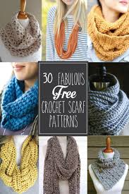 Crochet Patterns For Scarves Beauteous 48 Fabulous And Free Crochet Scarf Patterns