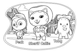 Small Picture Sheriff Callie Coloring Pages GetColoringPagescom