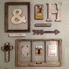 rustic wall collage family photo from recycled window frames windmill distressed white picture