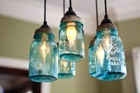 mason jar chandelier hanging light fixture pendant lighting five lights kit
