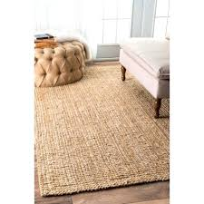 handwoven natural fibers jute ribbed solid rug beach style area rugs by uk
