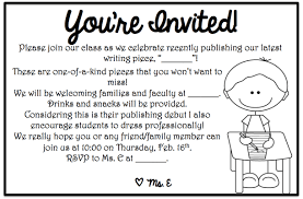 Class Party Invitation Publishing Party Seaside Teaching