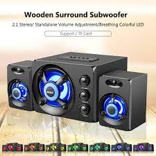 Buy SADA D-208 3 in 1 Home Speaker Set Super Bass Subwoofer with Colorful  LED Light 3.5mm Wired at affordable prices — free shipping, real reviews  with photos — Joom