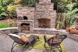 outdoor fireplace and pizza oven wood fired outdoor brick pizza oven and outdoor fireplace by the