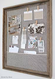 bulletin board designs for office. 11. SALVAGED Old Frame And Retro Fabric Bulletin Board Designs For Office