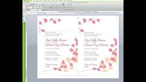 Invitations In Word Template How To Edit A Wedding Invitation Template In Word Youtube