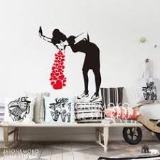 banksy lovesick vinyl wall decal sticker home art decor decal mural wallpaper for home wall on banksy wall art sticker with banksy balloon girl wall sticker banksy wall art banksy and girls