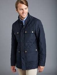 Men's Navy 4 Pocket Quilted jacket | Hawes and Curtis & Men's Navy 4 Pocket Quilted jacket Adamdwight.com