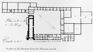 Architectural Drawings  California Missions Resource CenterMission San Diego De Alcala Floor Plan