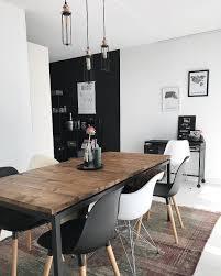 Minimal Dining Room Inspiration Stylish Interior Black And White