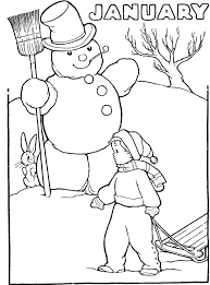 Small Picture Coloring Pages For January Pilular Coloring Pages Center