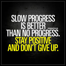Progress Quotes Extraordinary Slow Progress Is Better Than No Progress Stay Positive And Don't