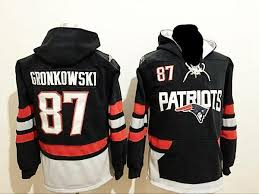 Front Hoodie England Rob Gronkowski Pocket Patriots Blue With Pullover New Navy
