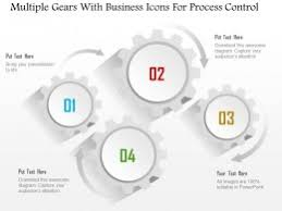 1214_multiple_gears_with_business_icons_for_process_control_powerpoint_template_Slide01 fp gear with chain and icons flat powerpoint design on marketing template powerpoint