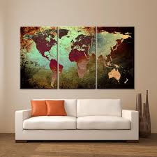 home office wall art. Large Canvas Wall Art Print World Map Texture Abstract Decor Interior Design Home Office