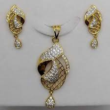 22k 916 fancy gold pendant set
