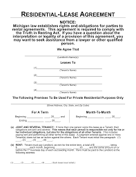 Lease Agreement Example Free Michigan Residential Lease Agreement Template Word PDF 24
