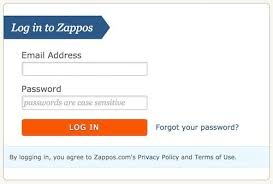 zappos login agree to privacy policy terms of use