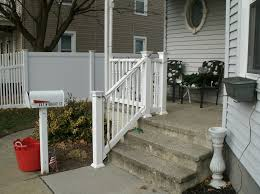 Stairs, Outdoor Handrails Handrails For Concrete Steps Small Home Front  Porch With Concrete Steps White