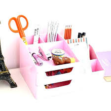 Cute desk organizer Makeup Desk Pink Desk Organizer Cute Desk Accessories And Organizers Furniture Cool Desk Accessories Cute Desk From With Home Designing Ideas Pink Desk Organizer In Metal Mesh Desk Organizers Office Supply