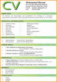 Curriculum Vitae Format Custom Latest Curriculum Vitae Format 48 Job Cv Format