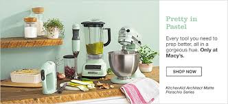 all kitchenaid colors. pretty in pastel, every tool you need to prep better, all a gorgeous kitchenaid colors