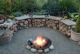 stone gabion fire pit easy gabion firepit