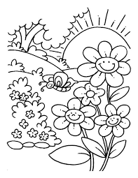 Small Picture Scenery Coloring Pages spring scenery coloring pages Kids