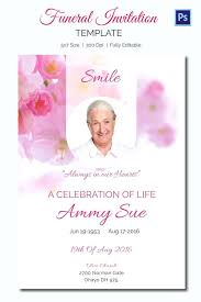 Memorial Service Invitation Template Adorable Funeral Invitation Template On Personalized In Memoriam Word