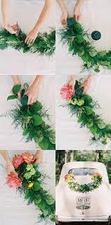 diy wedding car garland decorations