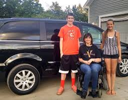 son s essay moves a stranger to buy family a wheelchair ready van michelle garn family van facebook garn