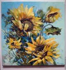 flower paintings handmade livemaster handmade sunflower oil painting