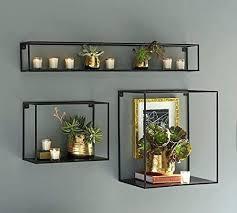 wooden floating shelves ikea metal floating shelf the industrial metal wall shelf box 3 shelves wall