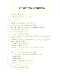 linex vi editor commands vi editor commands q  close filevi  create open new file <