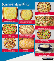 Pizza Mania Size Chart Dominos Menu Price