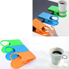 creative table desk cup holder clip drink clip