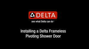 delta pivot shower door installation