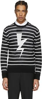 neil barrett black striped thunderbolt pullover men neil barrett puma shoes neil barrett sweater