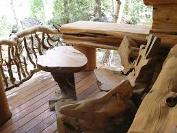 Outdoor Log Furniture Ideas at Home Interior Designing