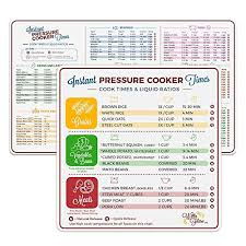Electric Pressure Cooker Cook Times Quick Reference Guide Compatible With Instant Pot And Instantpot Magnetic Cheat Sheet Magnet Set Decal