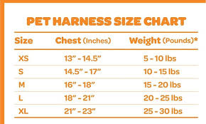 Voyager Harness Size Chart Up To 50 Off On Voyager Step In Air Dog Harness Groupon Goods