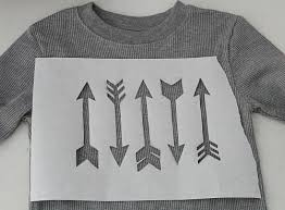 How To Design A Shirt With Paint Freezer Paper Stencil Arrows T Shirt Project By Decoart